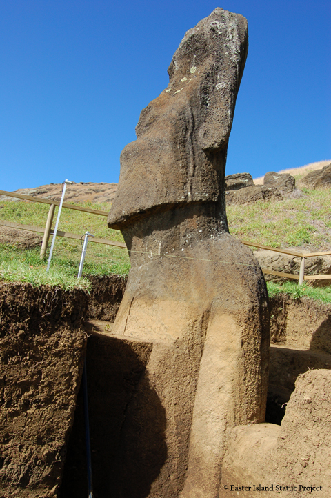 Easter Island Statue Project - Moai unburied