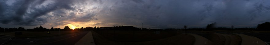 Sunset panorama in Kent Ohio