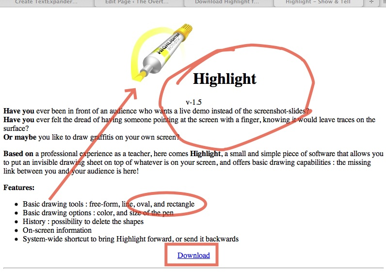 how to highlight on mac