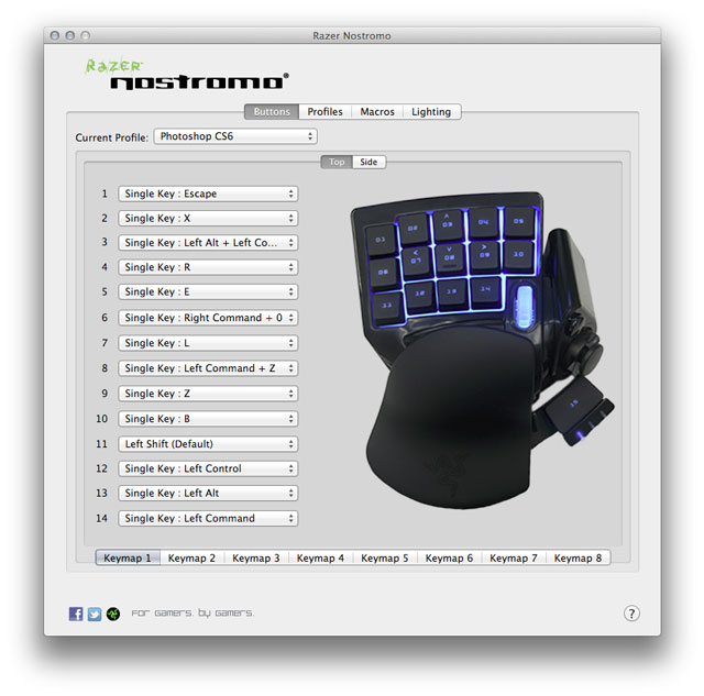 Razer Nostromo Programmable Keypad Review: Great Photoshop