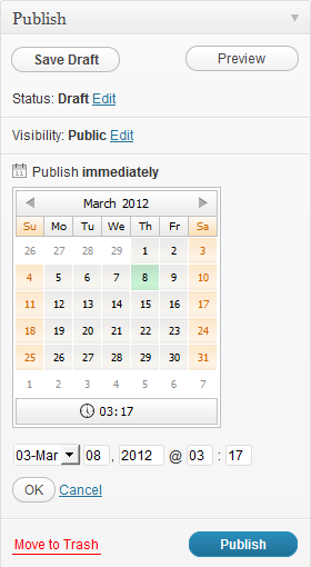 WordPress › Schedule Posts Calendar « WordPress Plugins
