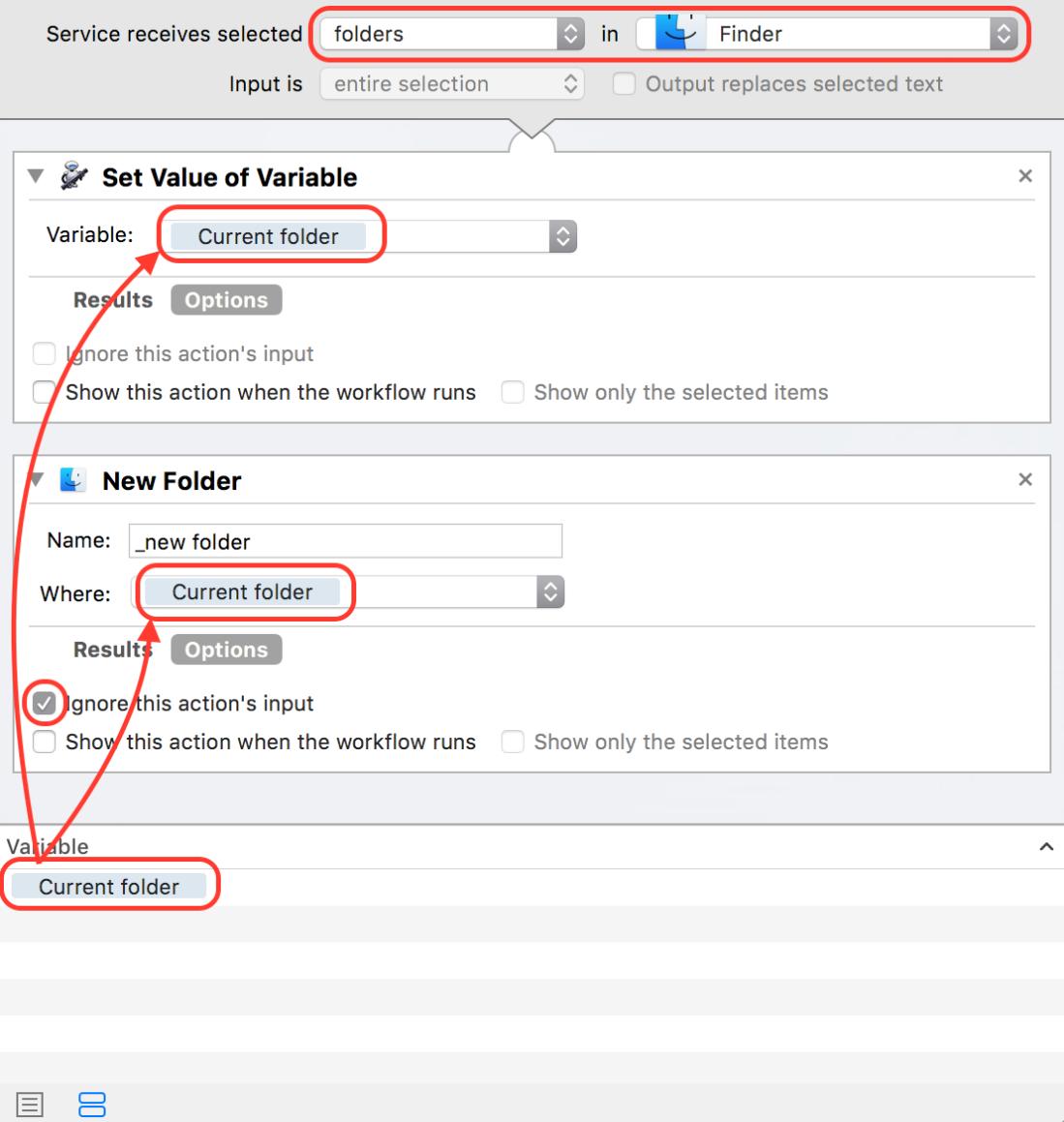 automator create folders