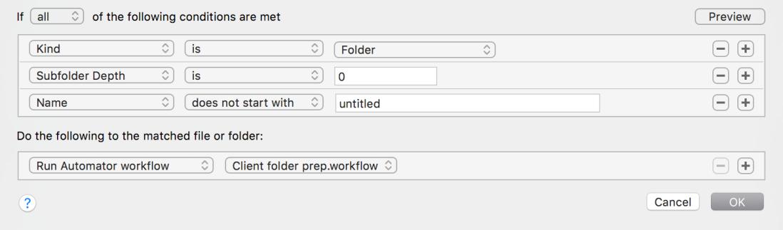 Hazel create folders