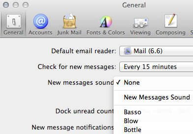 Apple Mail preferences